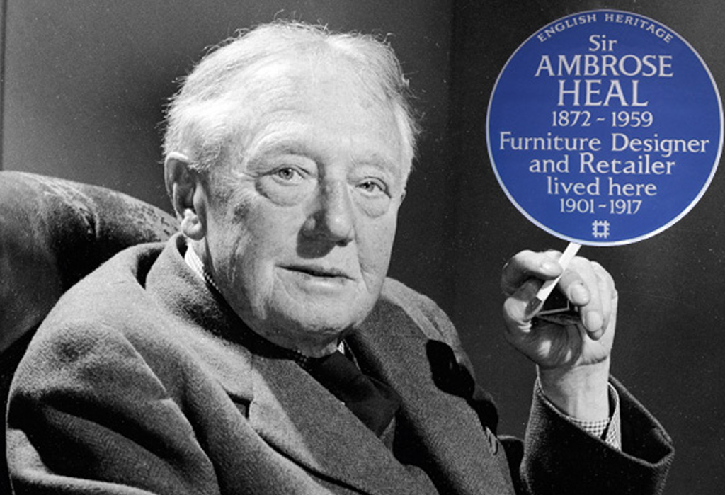 Sir Ambrose Heal Blue Plaque