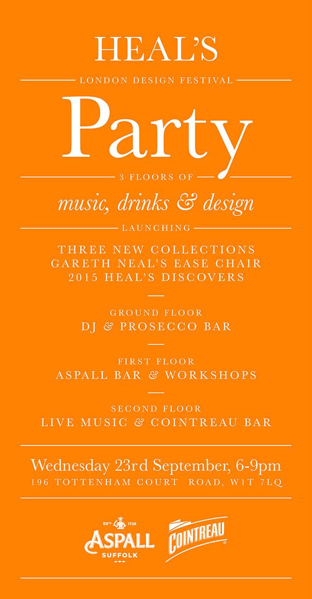 London Design Festival Party 2015 Invite