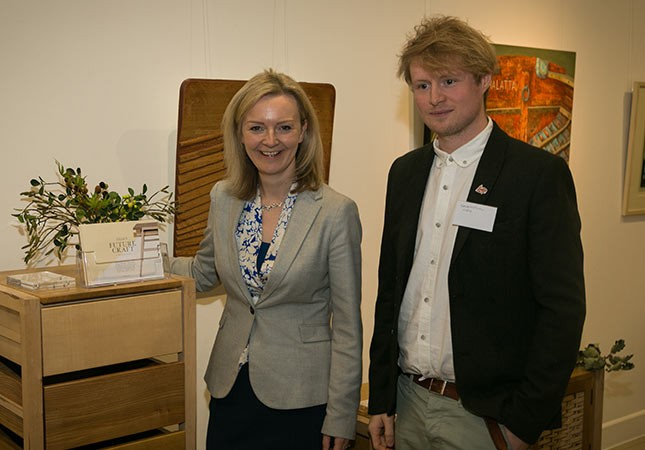 Grown In Britain Launch, Lizz Truss, Sebastian Cox, Sustainable Furniture,