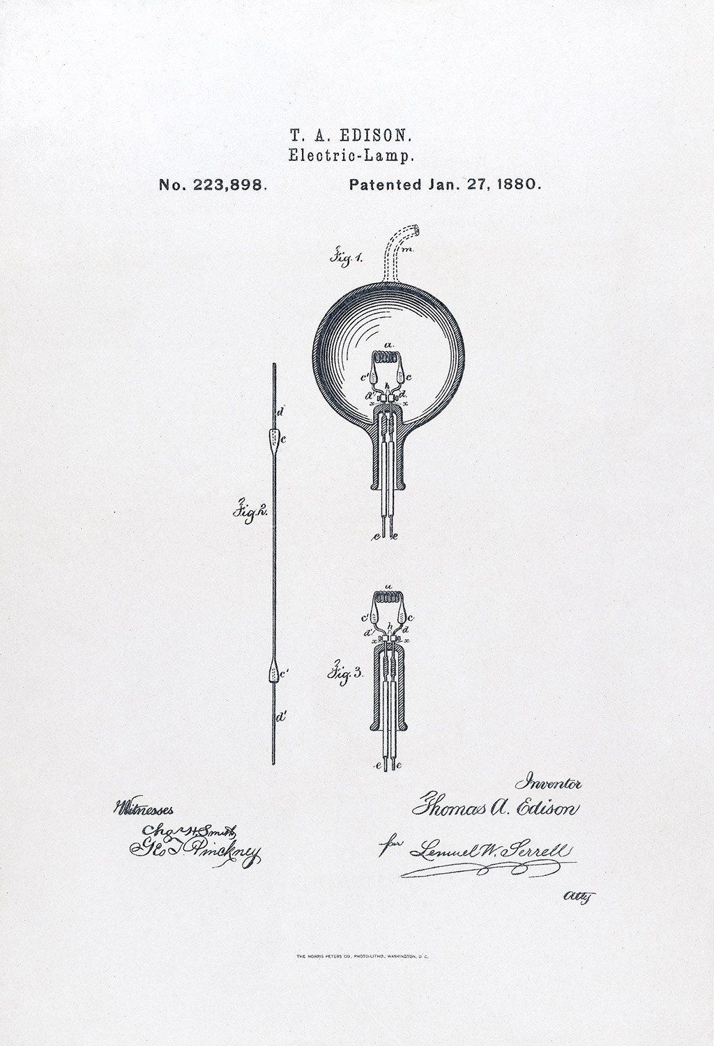 Joseph Swan Light Bulb Patent