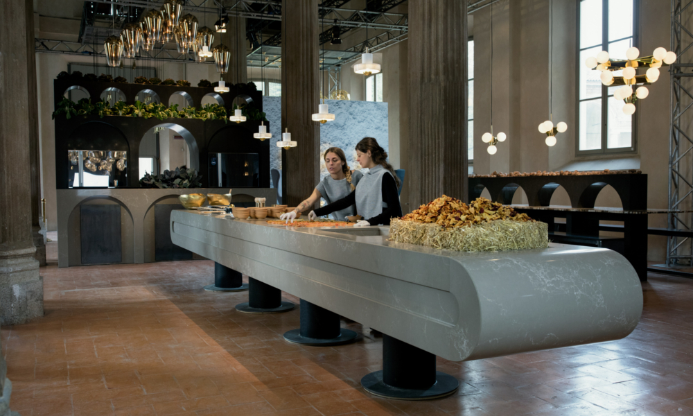 Tom Dixon The Restaurant Caesarstone Salone del Mobile Milano 2016