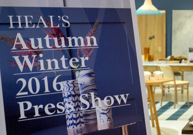 Heal's AW16 Press Show