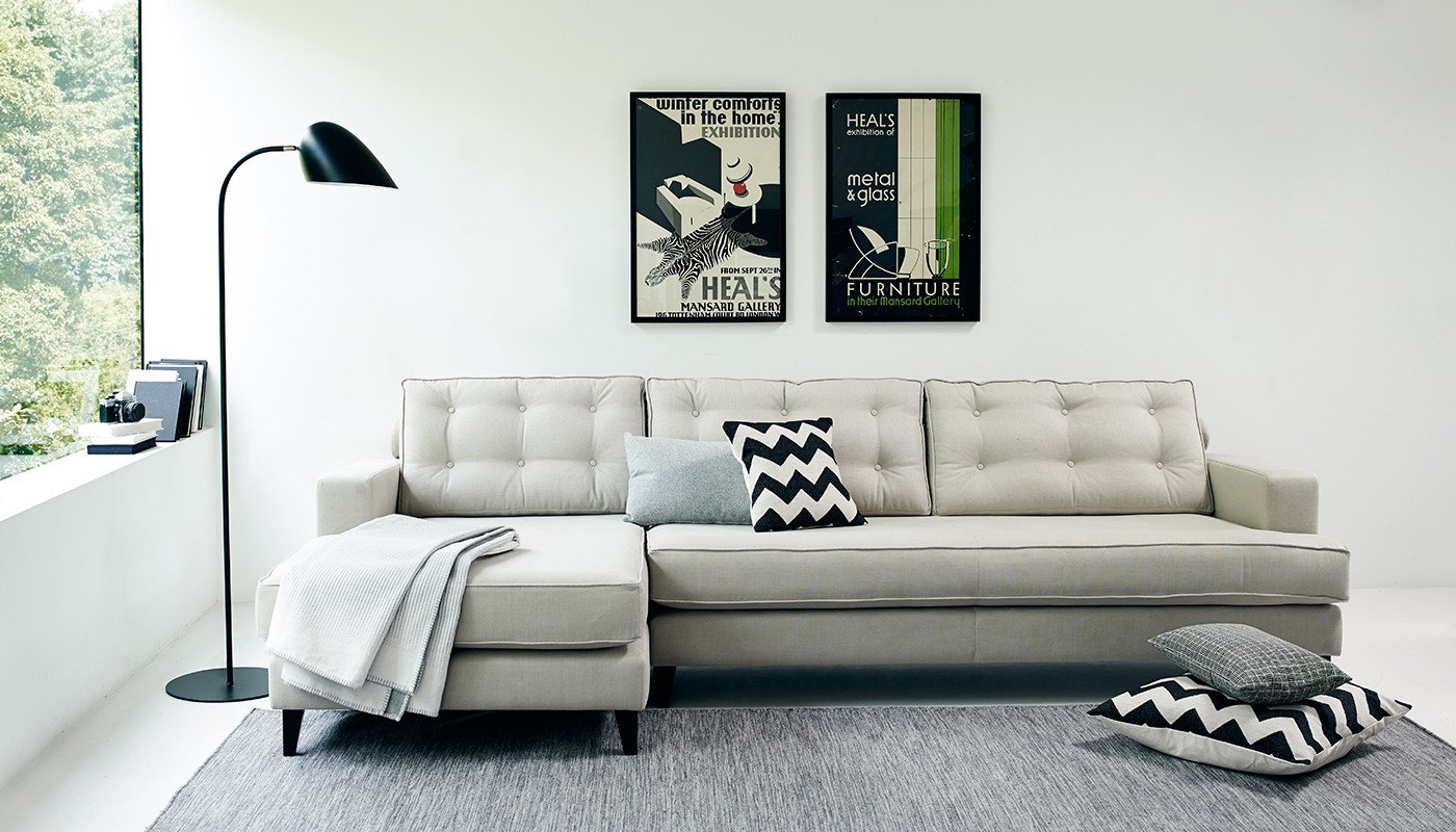 Bring scandinavian style to your home heal 39 s blog for Scandinavian style sofa