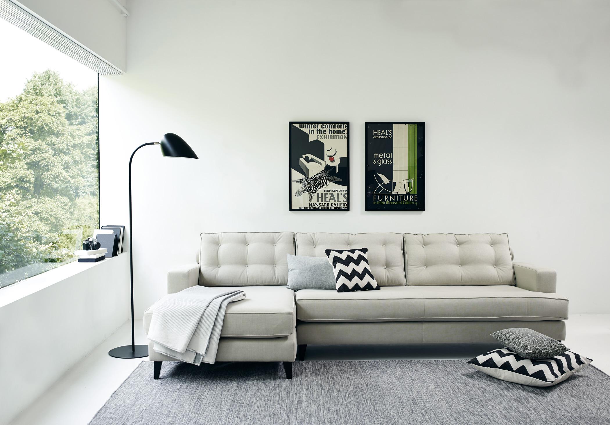 Mid century style sofa mistral
