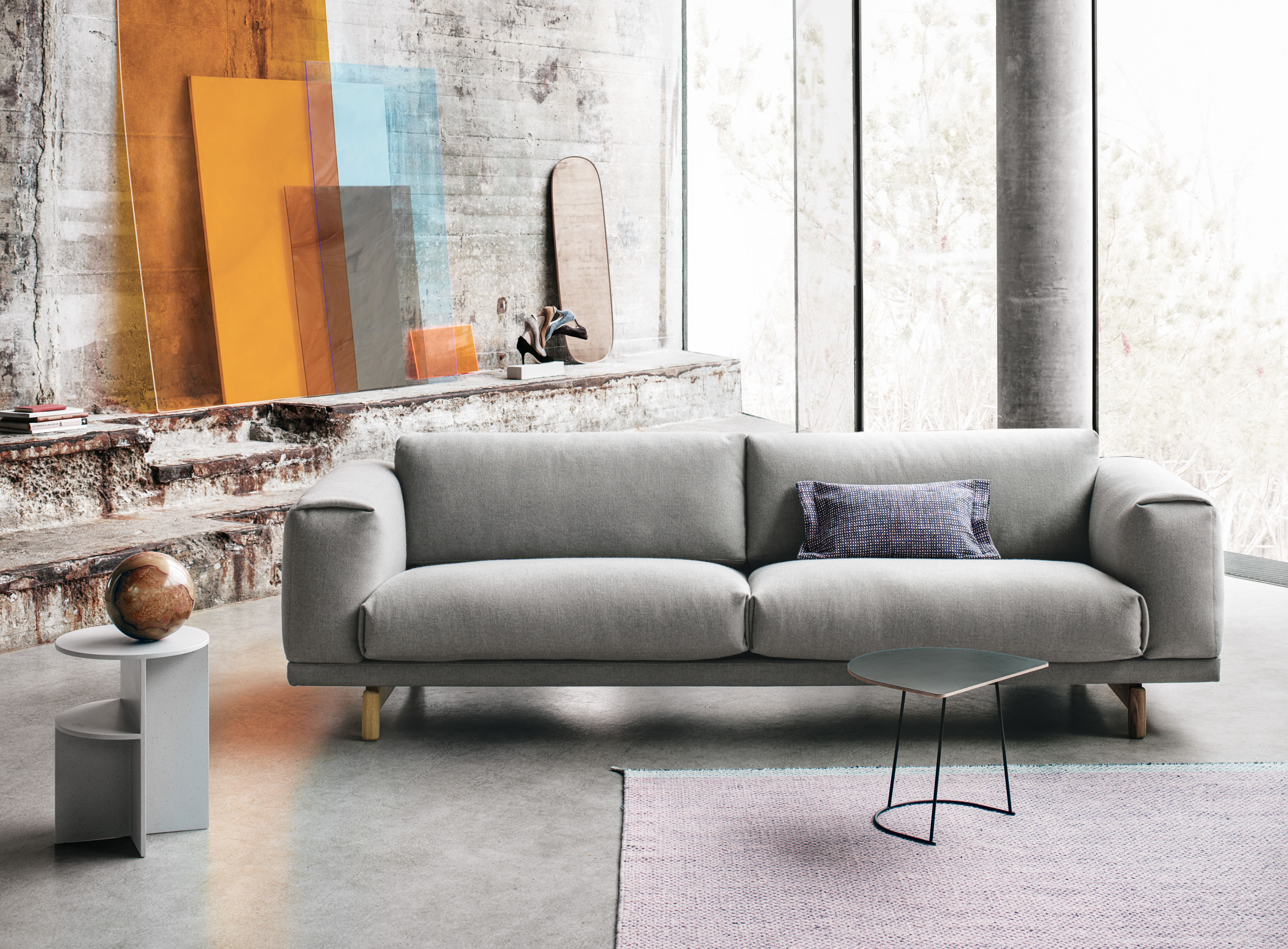 The Japandi inspired Rest sofa by Muuto
