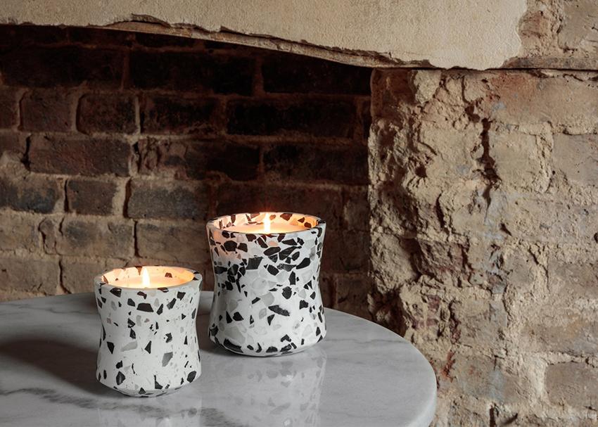 Terrazzo candle