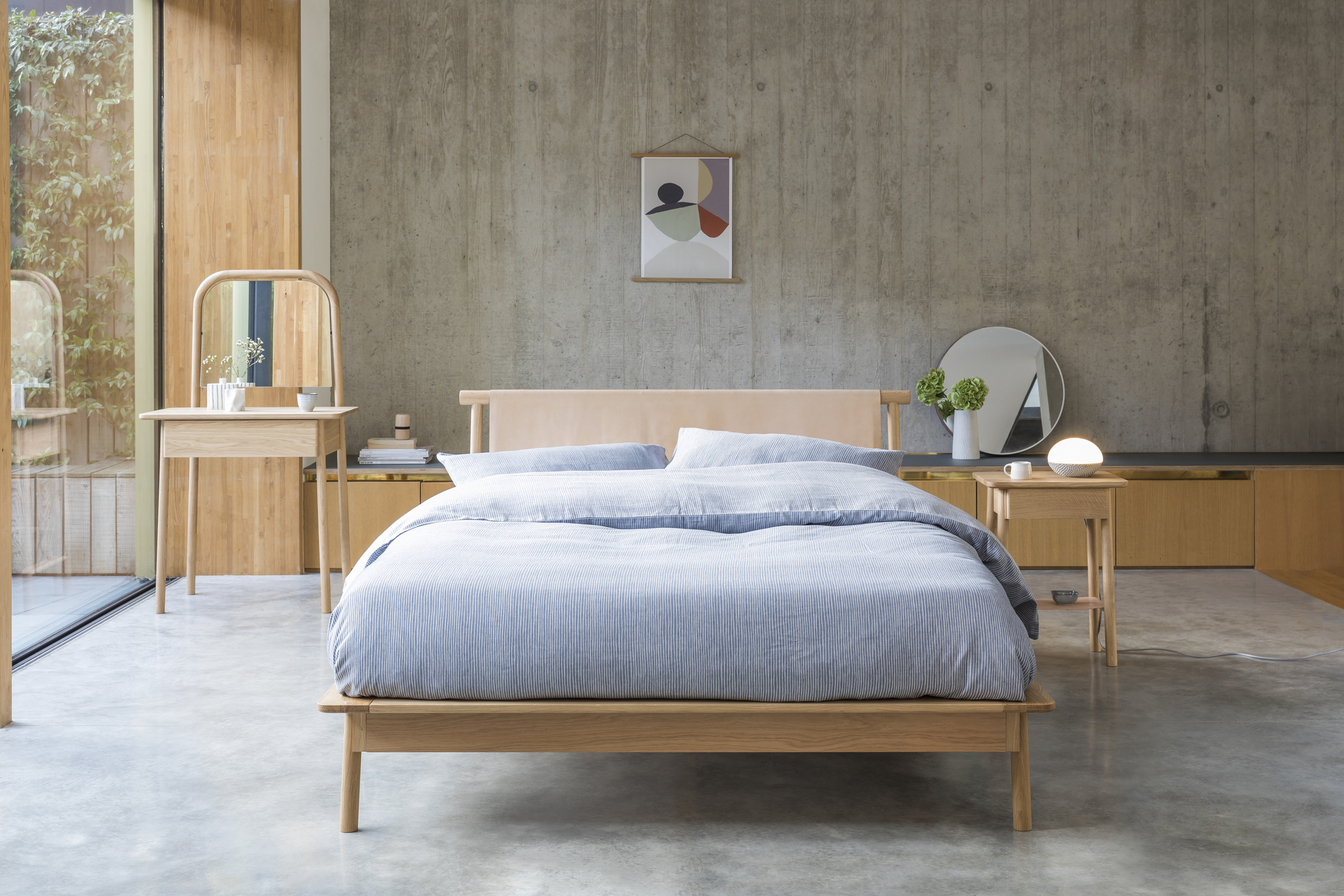 material trends 2019 unfinished surfaces bedroom