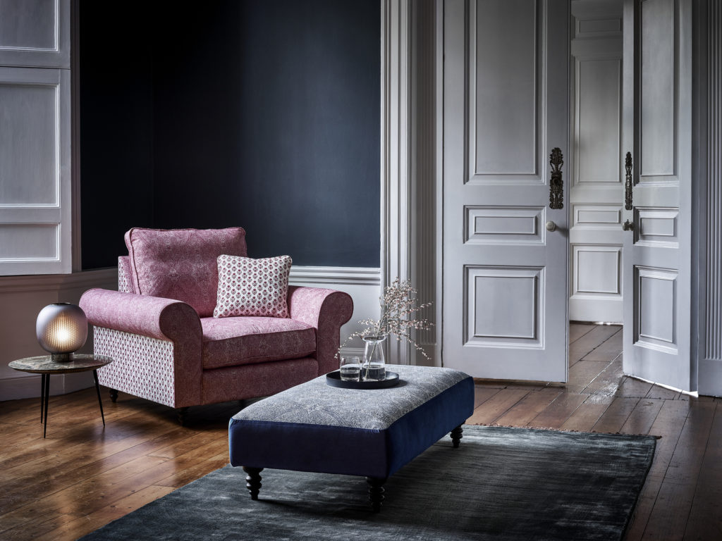 Homes and Gardens armchair and footstool to celebrate centenary