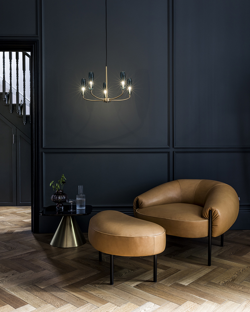 The Isola Armchair and Small Ottoman, part of the AW19 collection.