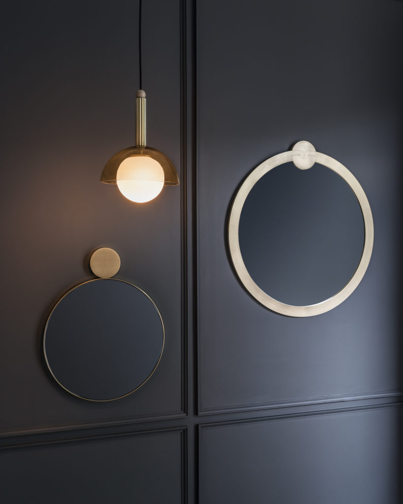 The Heal's AW19 offering includes the Deco Pendant and Knot Mirror by Genevieve Bennett