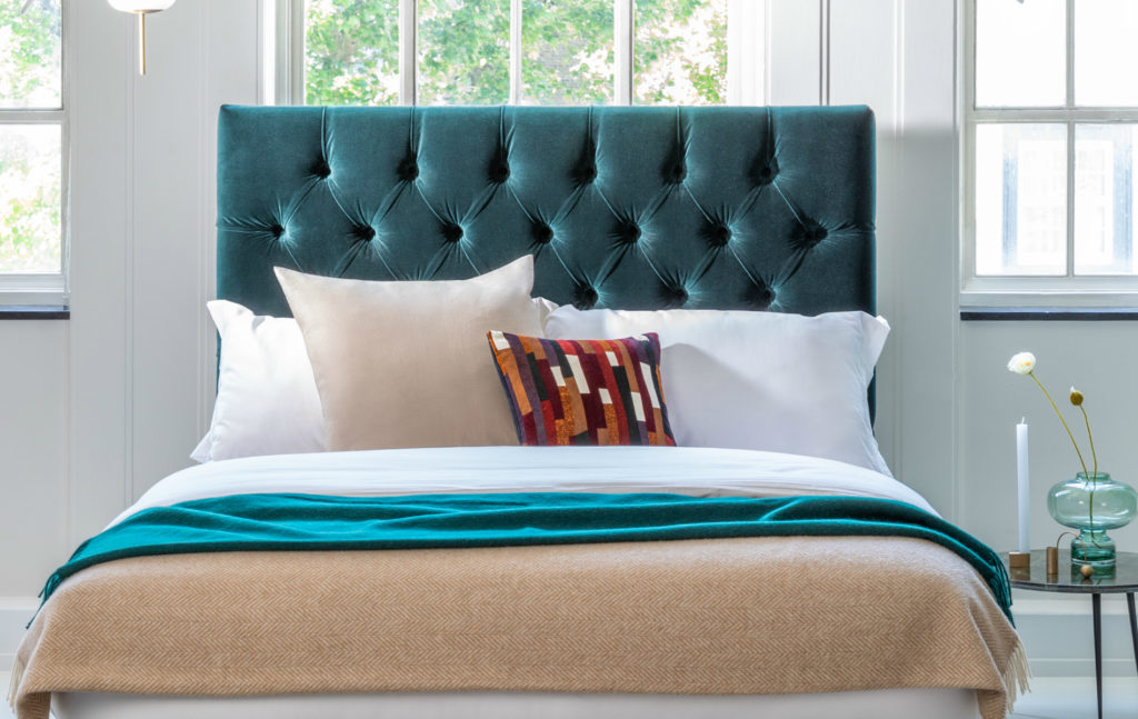 Balmoral Headboard in teal
