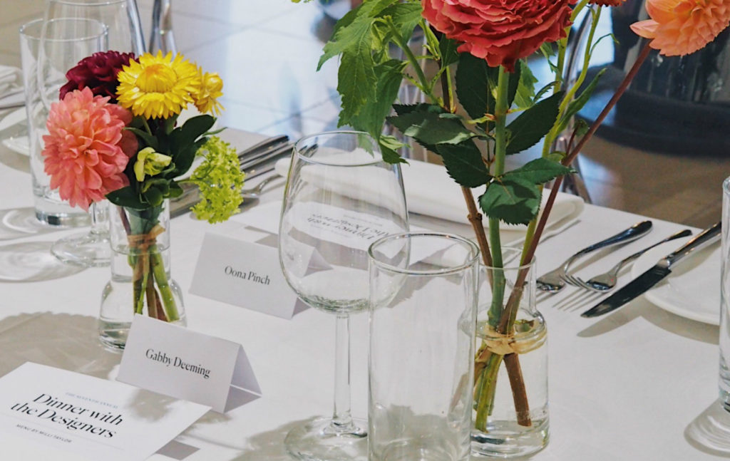 Highgate Flowers at Dinner with the Designers 2019