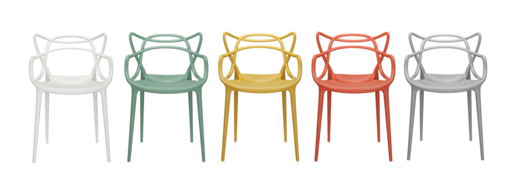 The Masters Chair in a selection of colours | Image courtesy of Kartell