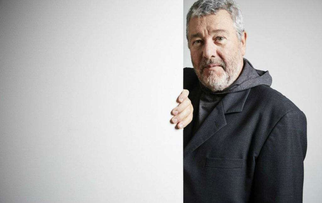 Philippe Starck, designer of the Masters Chair | Image via Le Parisien, courtesy of Julien Falsimagne
