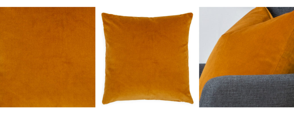 Statement cushion in ochre