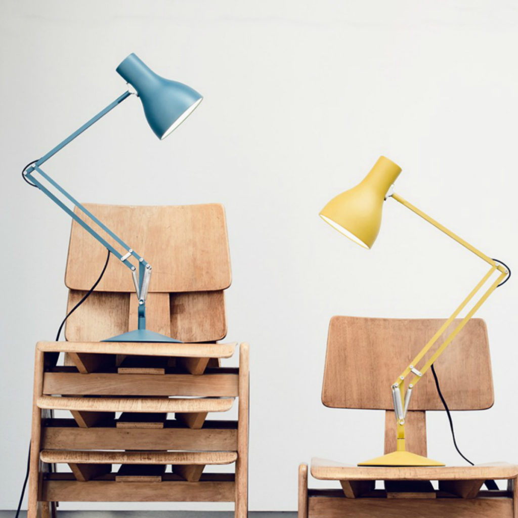 Anglepoise 75 Desk Lamp. Margaret Howell transformed the iconic light with vibrant colourways.
