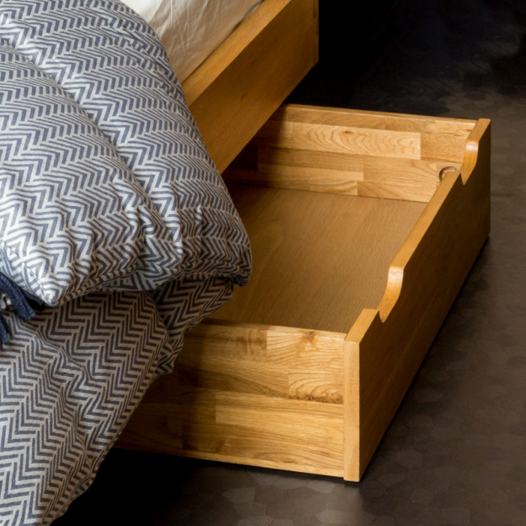 Brunel Under-Bed Storage Drawers that embraces room in a small space