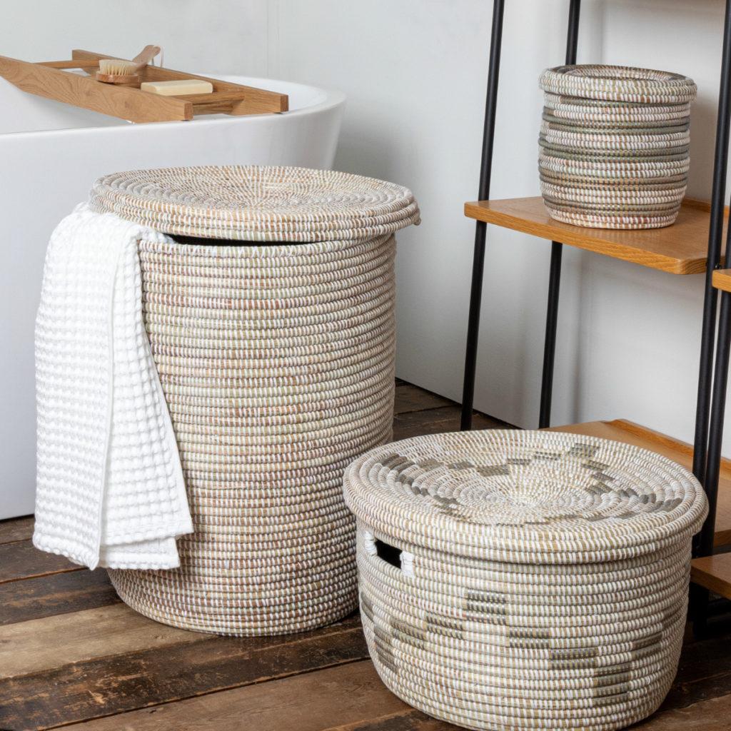 Washing Baskets in a bathroom