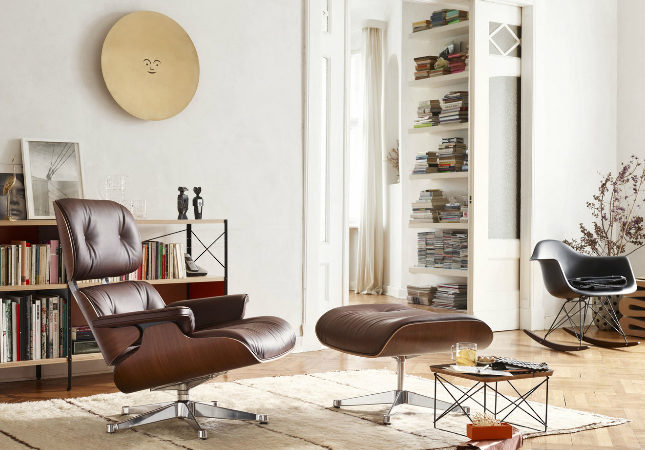 Eames Lounge Chair in a living room | Image courtesy of Vitra