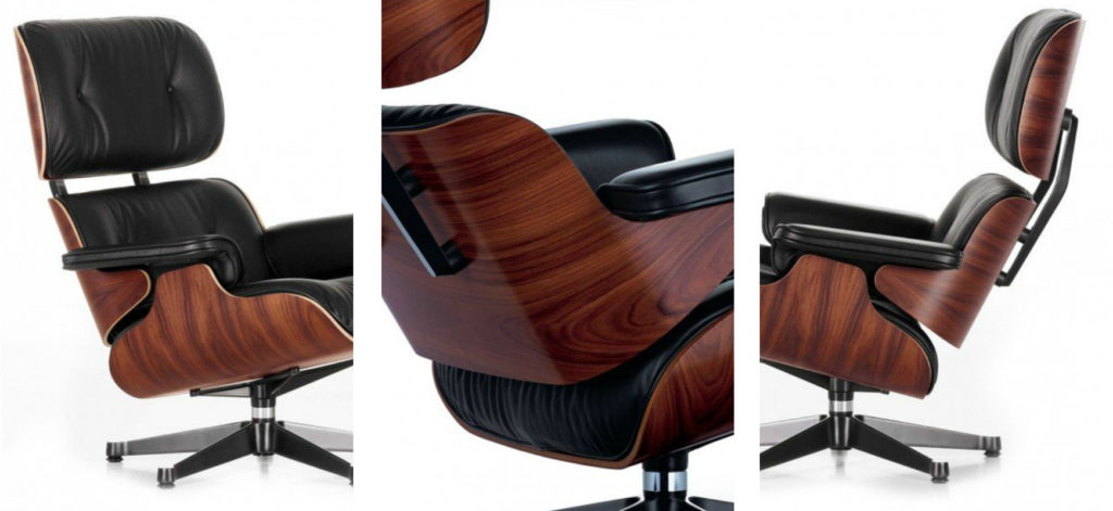 The Eames Lounge Chair in closer detail | Image courtesy of Vitra