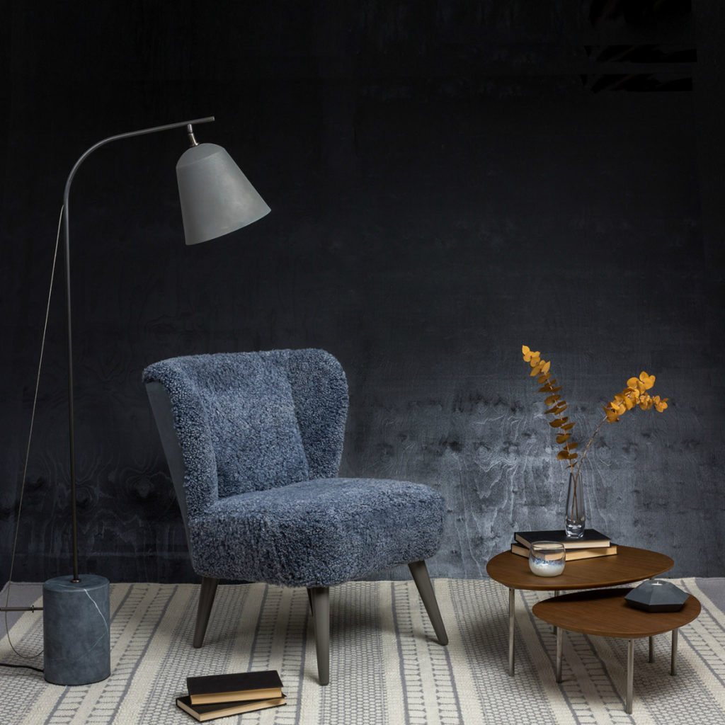 Ziggy Easy Chair on a dark background - perfect for Black Friday