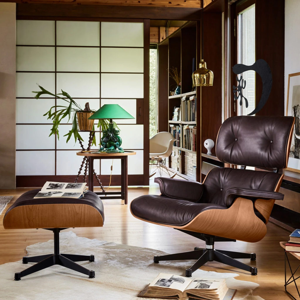 Charles & Ray Eames' mid-century Lounge Chair for Vitra