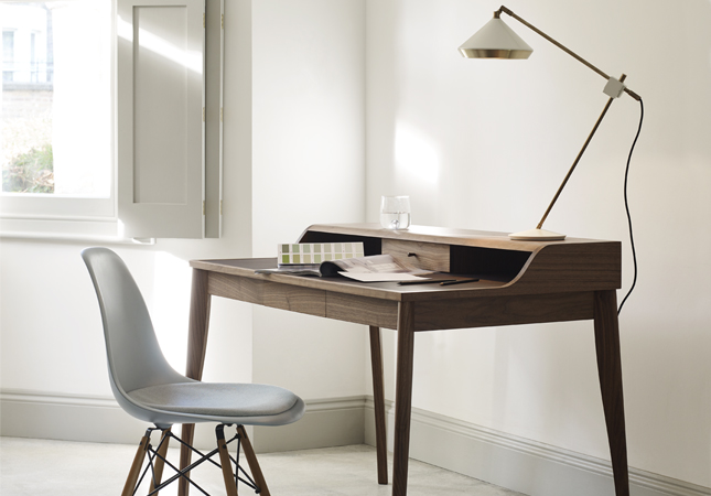 Contemporary home office workspace