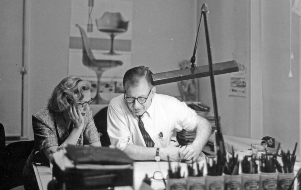 Eero Saarinen at work