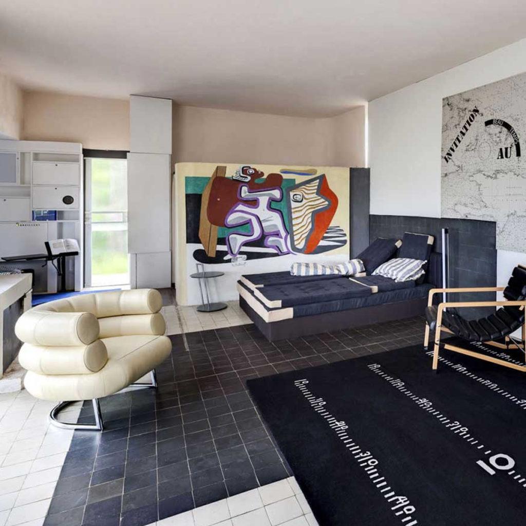 Eileen Gray's mid-century Bibendum Chair at the E-1027 Villa