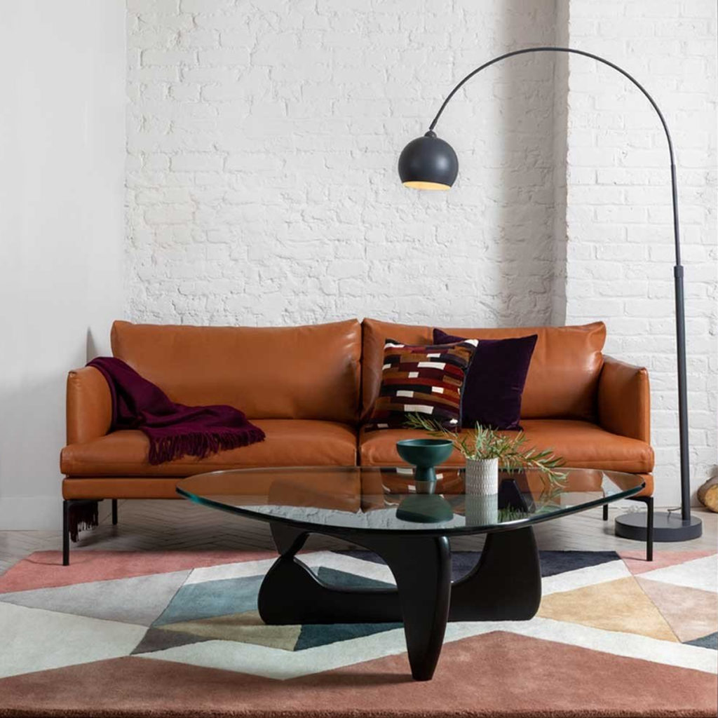 Isamu Noguchi's mid-century Noguchi Table in a living room setting