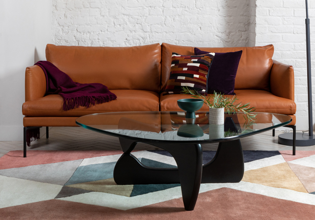 Isamu Noguchi's mid-century Noguchi Table in a living room setting
