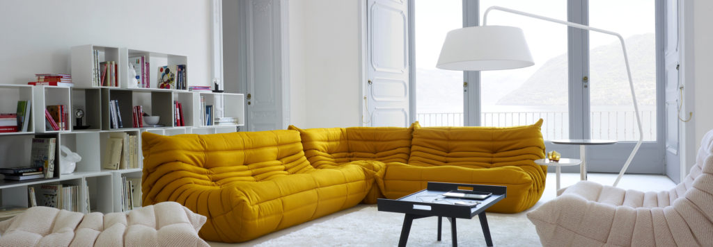 Ligne Roset's Togo Sofa, part of its collection of sustainable furniture | Image courtesy of Ligne Roset