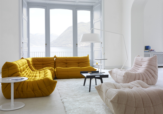 Ligne Roset's Togo Sofa | Part of its collection of sustainable furniture | Image courtesy of Ligne Roset