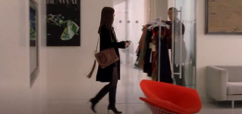Bertoia Wire Chairs in The Devil Wears Prada film
