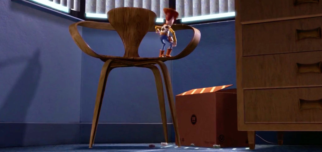 Cherner Chair in the Toy Story films
