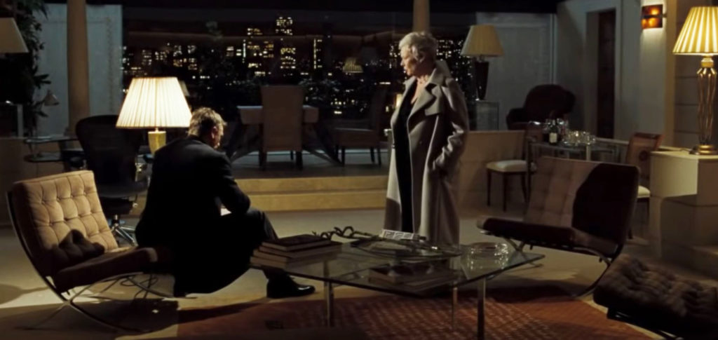 The Knoll Barcelona Chair featuring in Casino Royale James Bond films