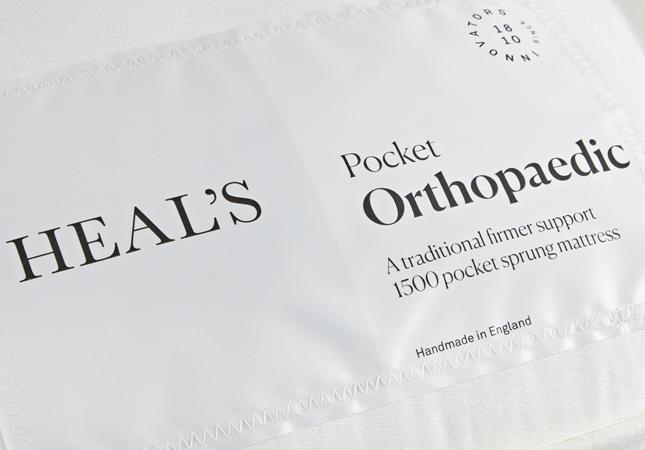 Heal's Orthopaedic Mattress label