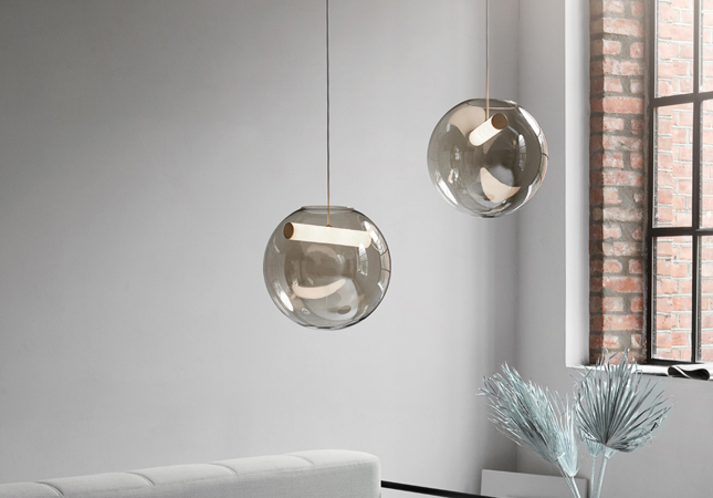 Reveal LED Smoked Glass Pendant Lights | Image courtesy of Northern