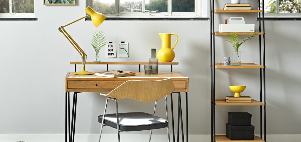 Brunel Home Office with colourful accessories
