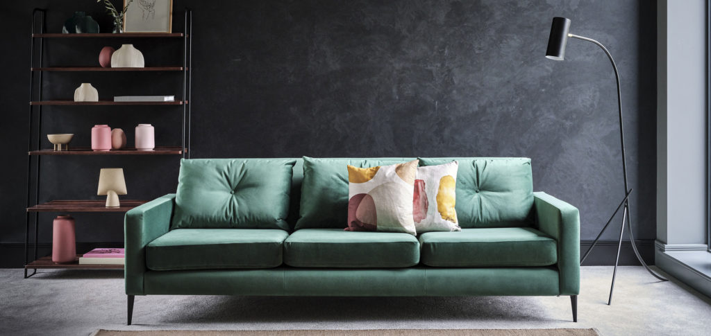 Brunel Sofa in a teal colour