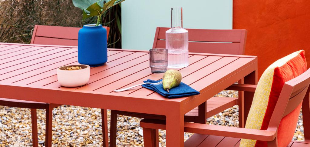 Eos Outdoor Furniture in terracotta