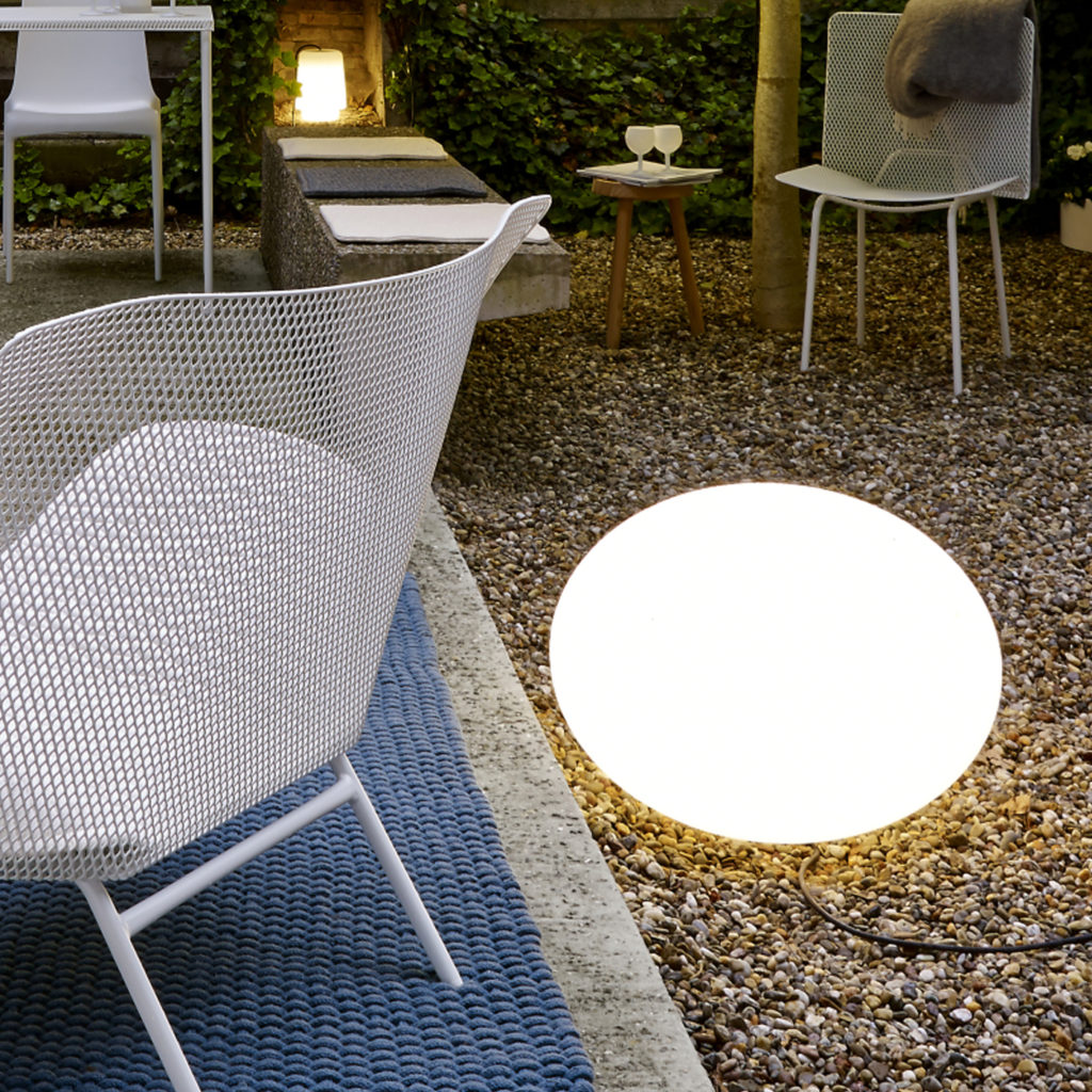 Outdoor lighting ideas with the Globe Outdoor Table Lamp   Image courtesy of Ligne Roset