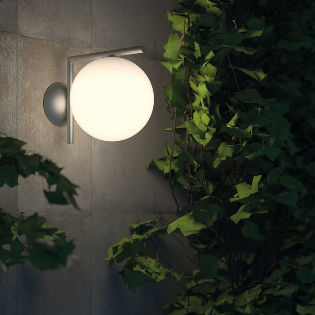 Outdoor lighting ideas with the IC Outdoor Wall Light   Image courtesy of Flos