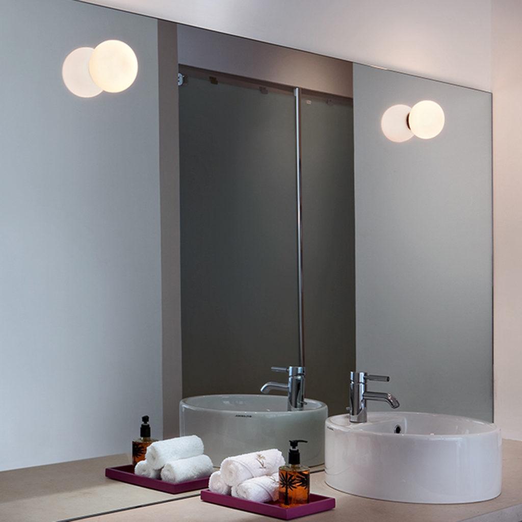 IP44 Mini Glo-Ball bathroom lighting ideas   Image courtesy of Flos