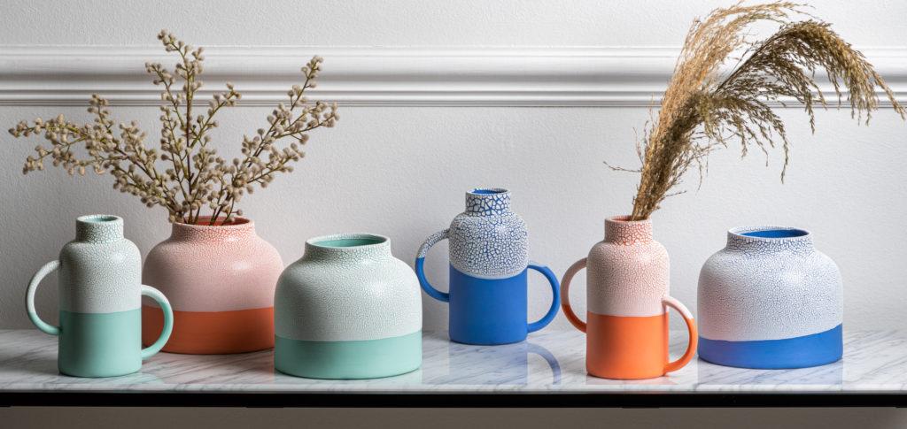 Natalie J. Wood Ceramics in bold colours