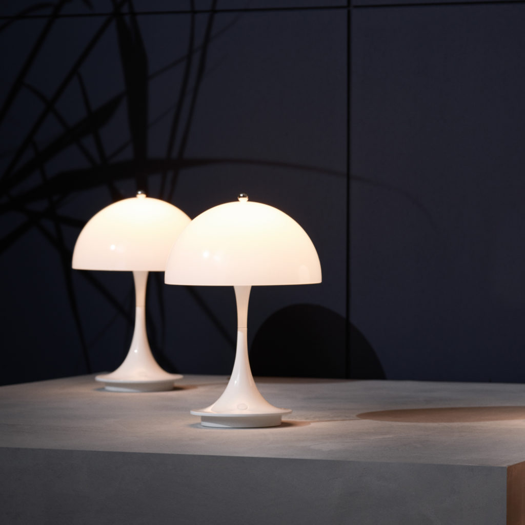 Outdoor lighting ideas with the Panthella Portable Light   Image courtesy of Louis Poulsen