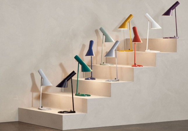 The AJ Table Lamp in a rainbow of colours