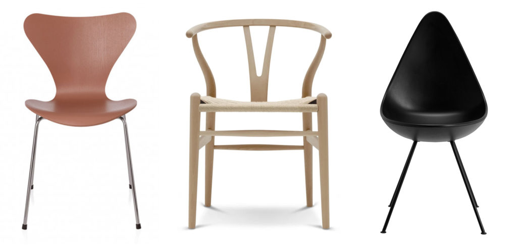 Furniture Pub Quiz Question 5, images of the Series 7 Chair, CH24 Wishbone Chair, Drop Chair