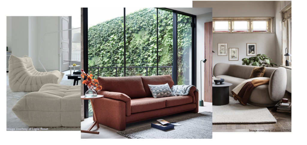 Chubby Sofas are an AW20 interior design trend