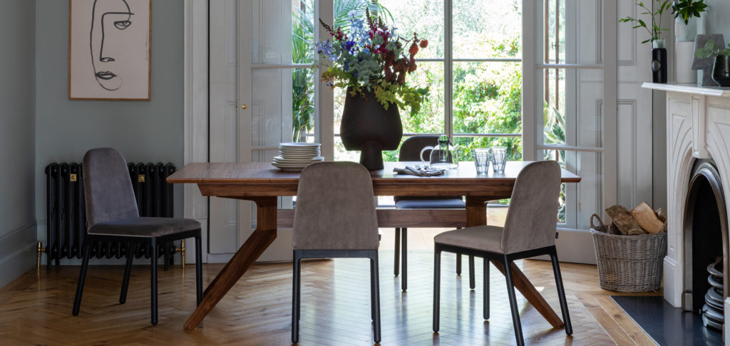 Ellie Chairs around a French dining table